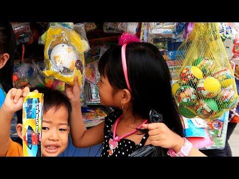 Hunting Mainan Murah 3000an Dapat Banyak | Ketemu Fans Pas Beli Mainan Di Penjual Mainan Anak