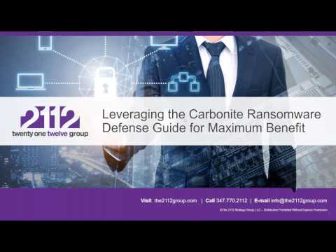 Carbonite Channel Partners - Ransomware Go-To-Market Guide