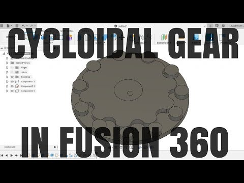 How to Design a Cycloidal Disk in Fusion 360