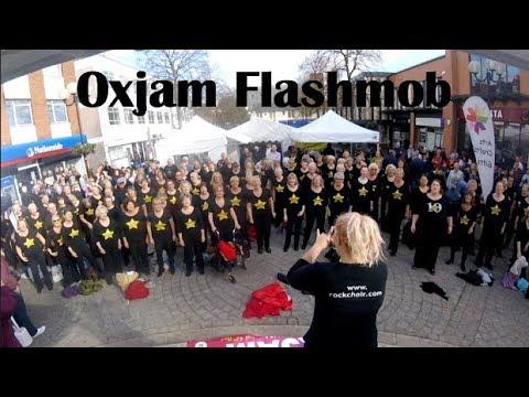 Nottinghamshire Rock Choir Flashmob Beeston Oxjam Festival!