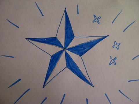 Zeichnen lernen für Anfänger. Einen fünfzackigen Stern zeichnen. How to draw a five-pointed star