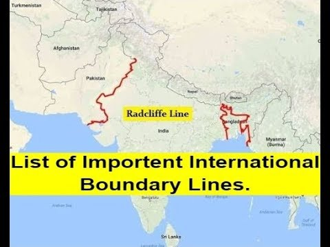 List of Important International Boundary Lines/(For RRB/SSC/CGL/Bank EXAM).Easy Gk Notes.