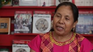 Marichuy, vocera del Concejo Indígena de Gobierno. Comunidad nahua, Tuxpan, Jalisco