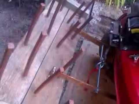 Fabrication d 39 un relevage maison sur tracteur tondeuse for Fabrication maison