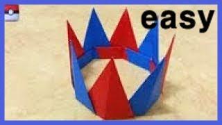 814  종이접기 (왕관) crown Origami  색종이접기  折纸  оригами  摺紙  折り紙  اوريغامي