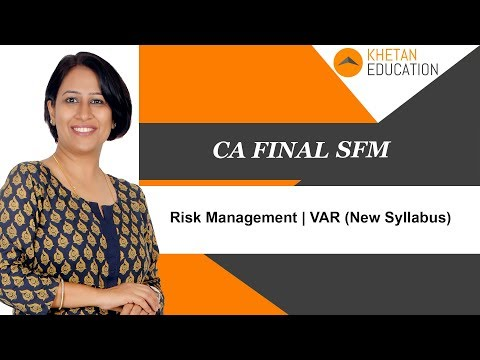 SFM CA Final | Risk Management | Value At Risk (New Syllabus)
