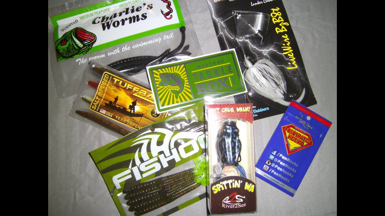 September mystery tackle box 2015 youtube for Fishing mystery box
