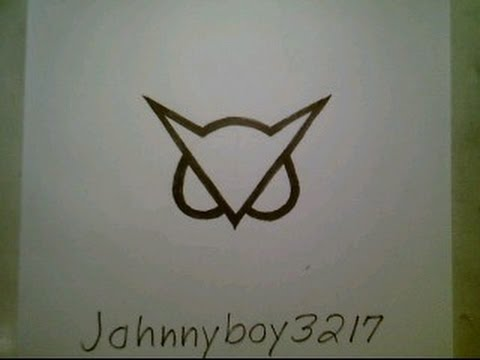 How To Draw Vanossgaming Owl Logo White Sign Easy Step By Step Doodle Sketch Tutorial