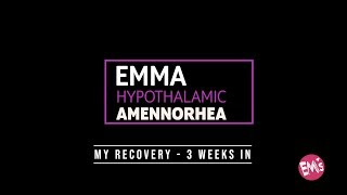 Hypothalamic Amenorrhea - My Recovery - 3 Weeks In