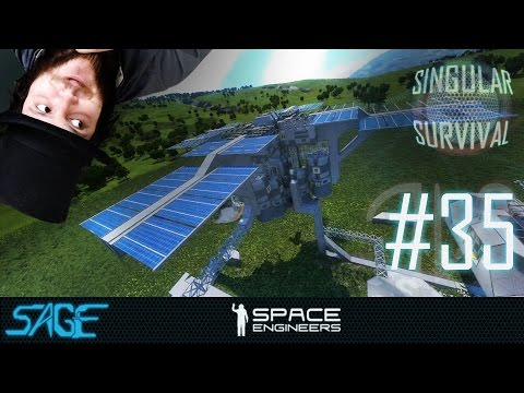 Space Engineers, Solar Panels, by HTC (Singular Survival, Ep 35)