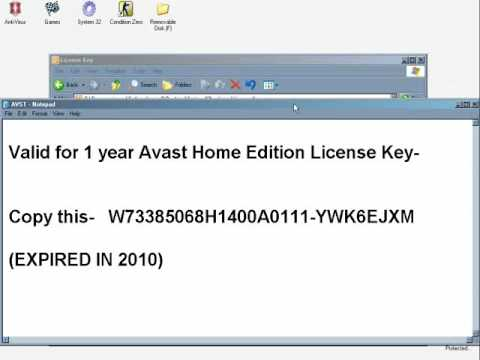 Free Avast License Key - YouTube