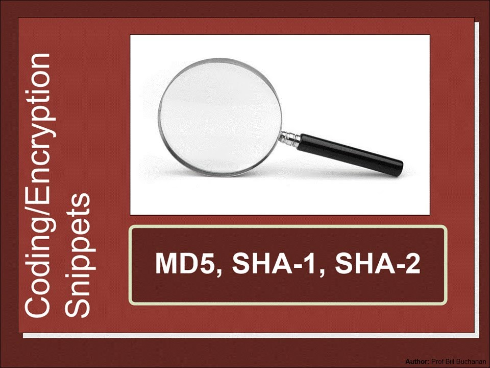Security Snippets Md5 Sha 1 And Sha 2 Youtube