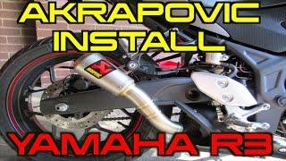 How To Install Akrapovic M1 Slip-On Exhaust - Yamaha R3