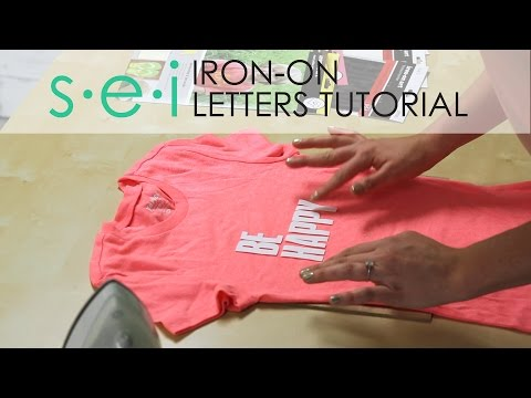 57d30c8a DIY Iron On Transfers: LETTERS - Be Happy Shirt - YouTube
