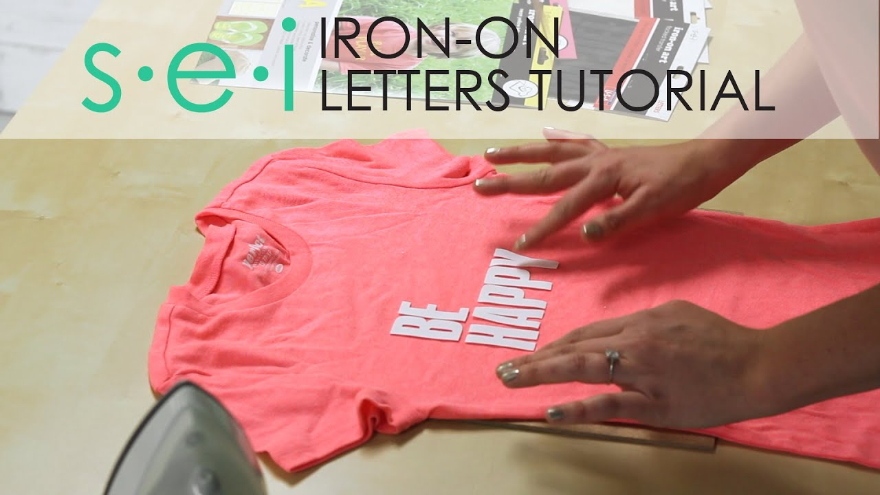 diy iron on transfers letters be happy shirt