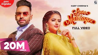 Love Marriage : Harf Cheema & Gurlez Akhtar (Full Video) MixSingh | GK DIGITAL | Geet MP3