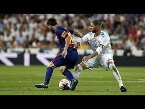 Lionel Messi vs Sergio Ramos ● Magic Dribbling Skills vs Brutal Fouls & Horror Tackles