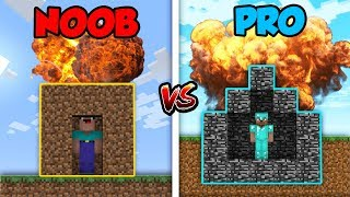 Minecraft NOOB vs. PRO: NUKE CHALLENGE! in Minecraft!
