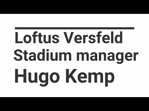 Behind the scenes:  Loftus Versfeld stadium manager Hugo Kemp