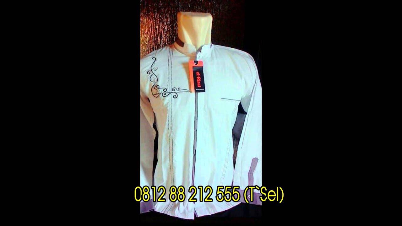 0812 88 212 555 Tsel Baju Koko Pria Terbaru Putih Bordir Type 002
