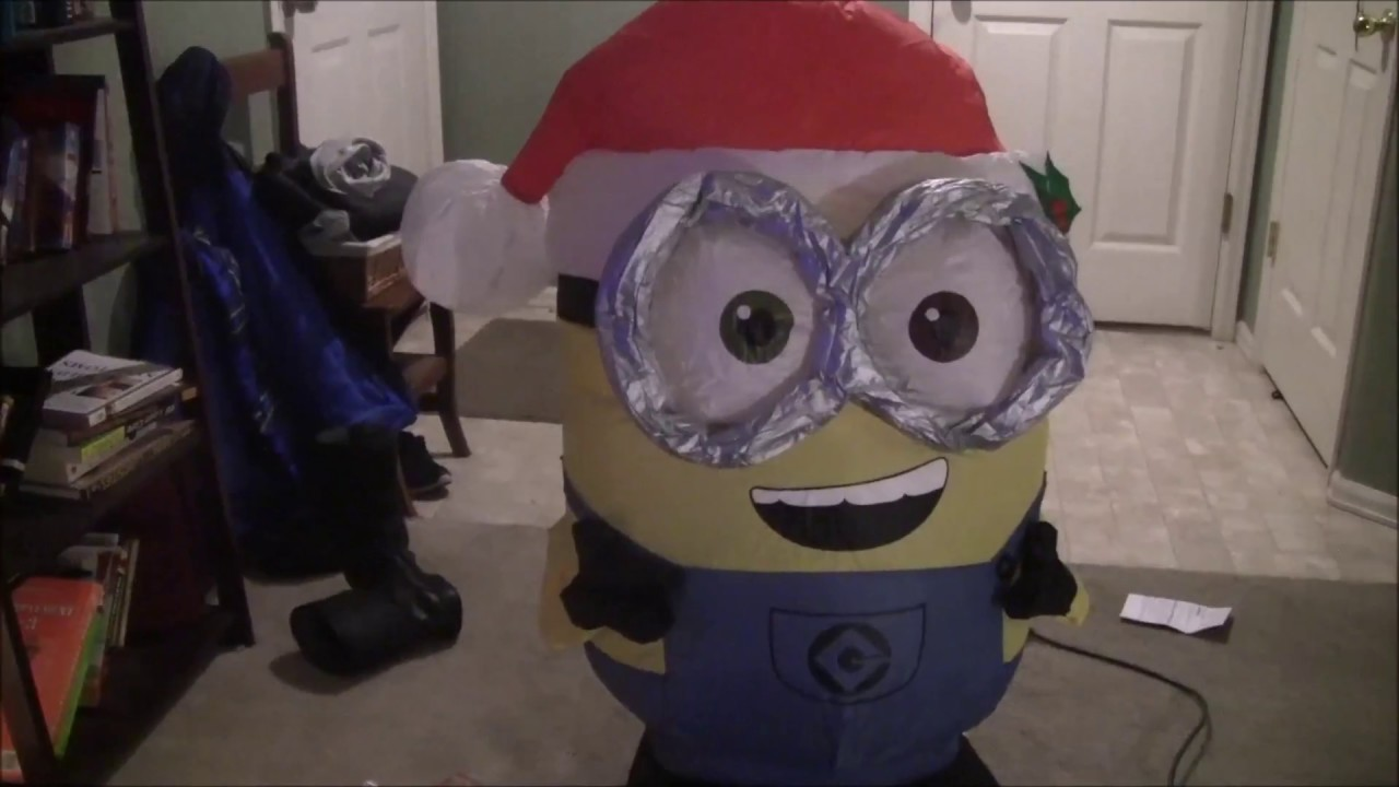 Christmas Minion Bob Inflatable Review - YouTube