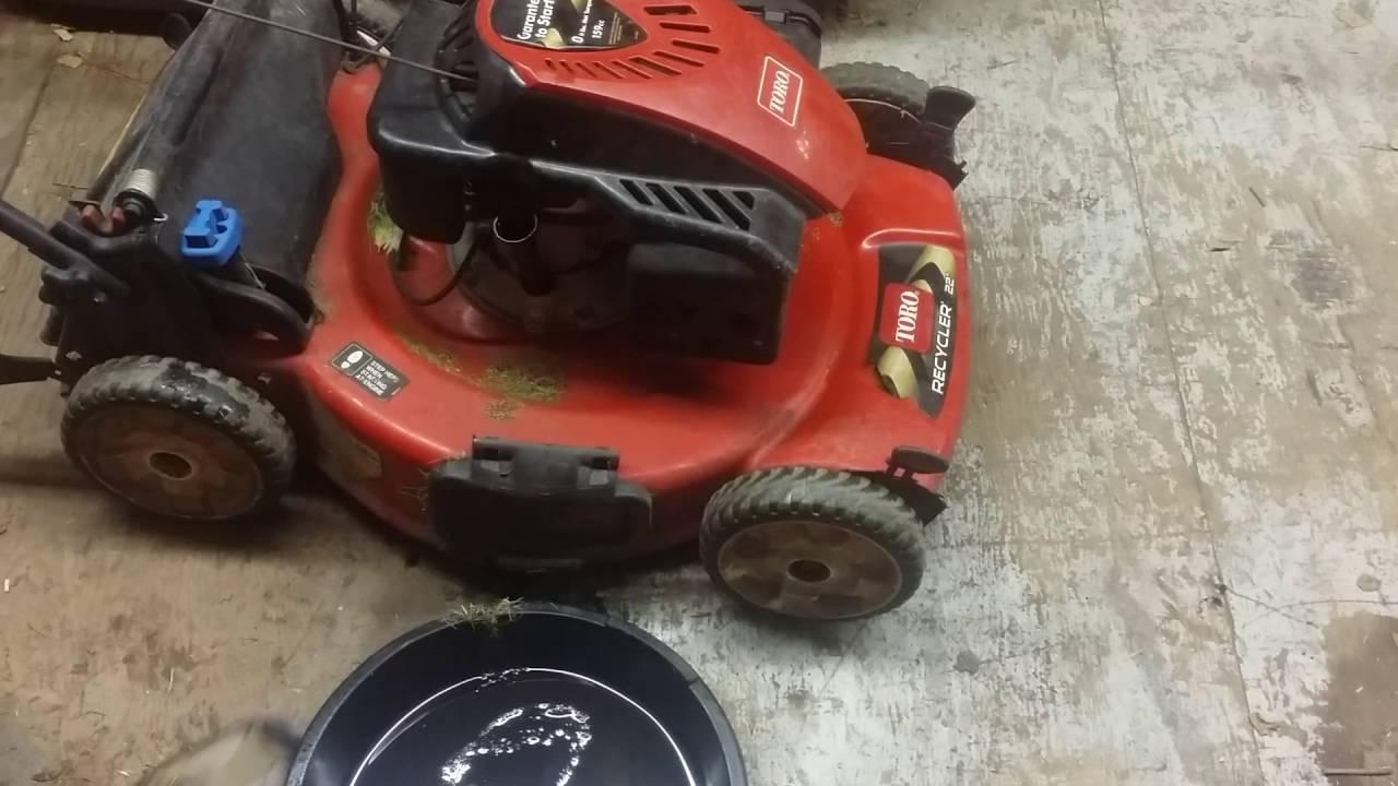 Toro Lawnmower Oil Change Youtube
