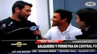 Juan Manuel Salgueiro y Juan Carlos Ferreyra de Olimpia - Nota para Fox Sport