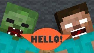 Monster School: Mobs CAN speak  - Minecraft Animation