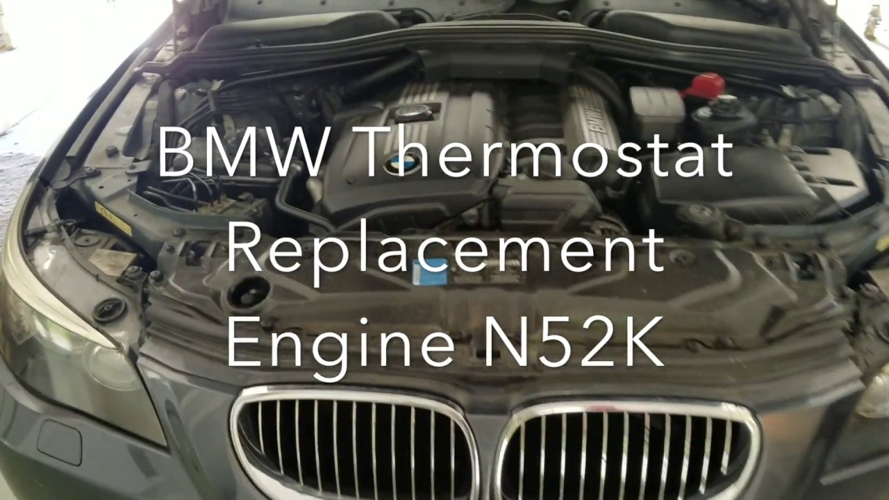 Bmw 5 Series N52 Thermostat Replacement Code P0128 And Coolant E86 Bleeding