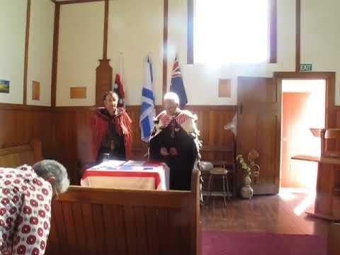 Service inside Mission Methodist Church Hoori Te Kuri  Ratana Church Services of Manahi Mauheni