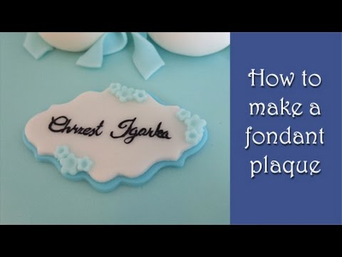 How To Make A Fondant Plaque Tutorial Jak Zrobić