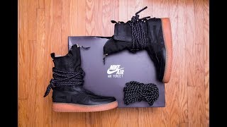 Swooshless Air Force 1 || Nike Special Field Air Force 1 High 'Black-Gum