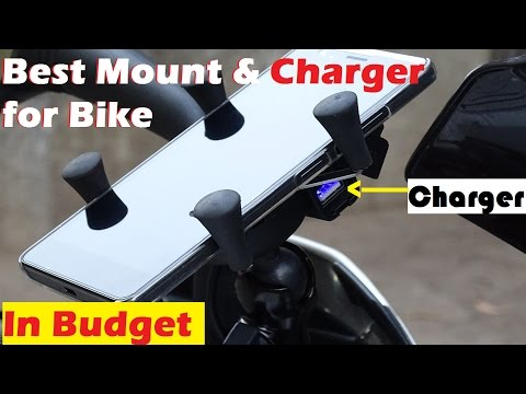 Mobile Holder & Charger for any Motorcycle | Under 1000Rs | Installation | Review