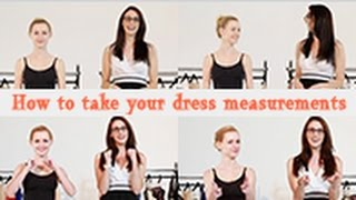 How To Take Dress Measurements | JJ
