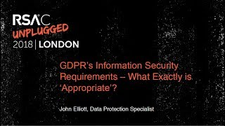 GDPR's Information Security Requirements – What Exactly is 'Appropriate'?