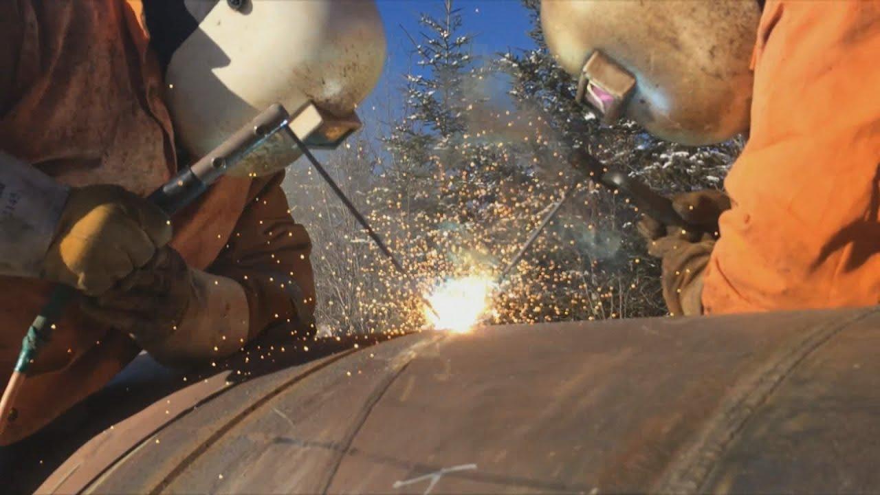 Pipeline Welding - Welding A Test Head - YouTube