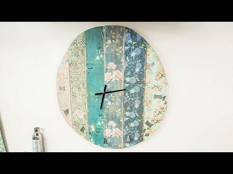 How To - Paige Hemmis' DIY Oversized Wall Clock - Hallmark Channel