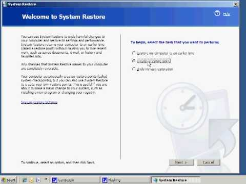 How To Perform A System Restore In Windows XP