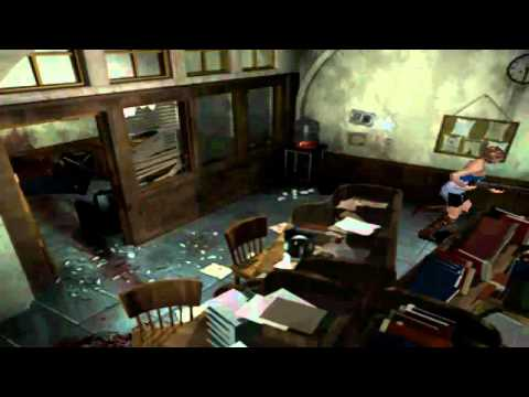 Resident evil 3 - nemesis appears in the police station