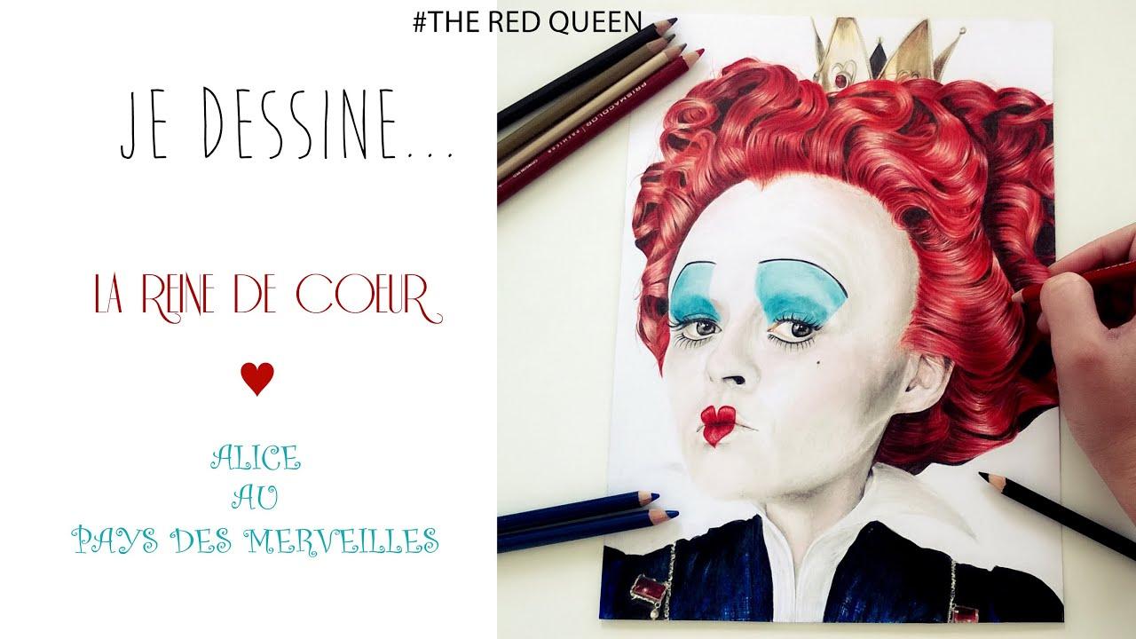 Formidable Des Photos De Coeur #5: Je Dessine... La Reine De Coeur L Alice Au Pays Des Merveilles L