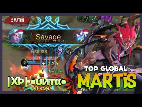 Epic Savage with 2 Maniac Martis by |XÞ| ●υитα● Top Global Martis ~ Mobile Legends