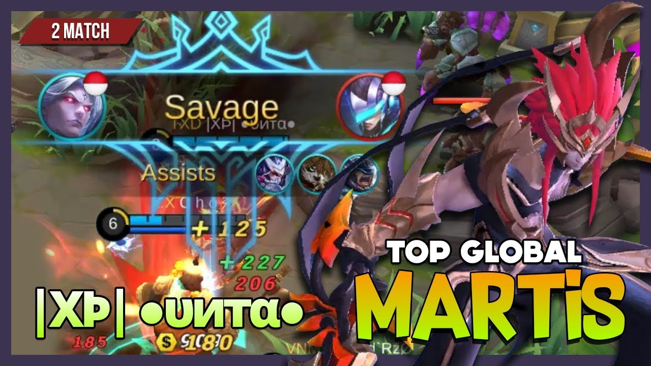 Epic Savage With 2 Maniac Martis By Xž ●υитα● Top Global Martis Mobile Legends