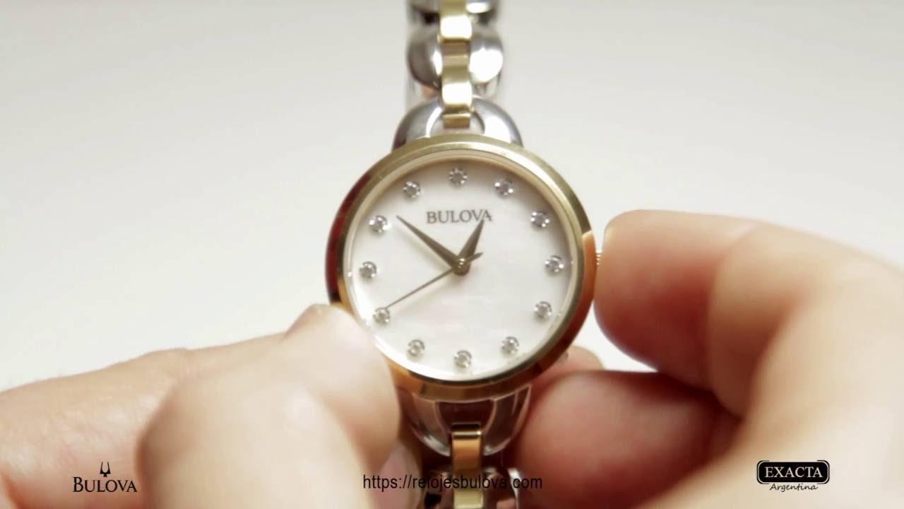 75362f2ecee3 Reloj BULOVA Dama Combinado Oro Delicado y Super Elegante - YouTube