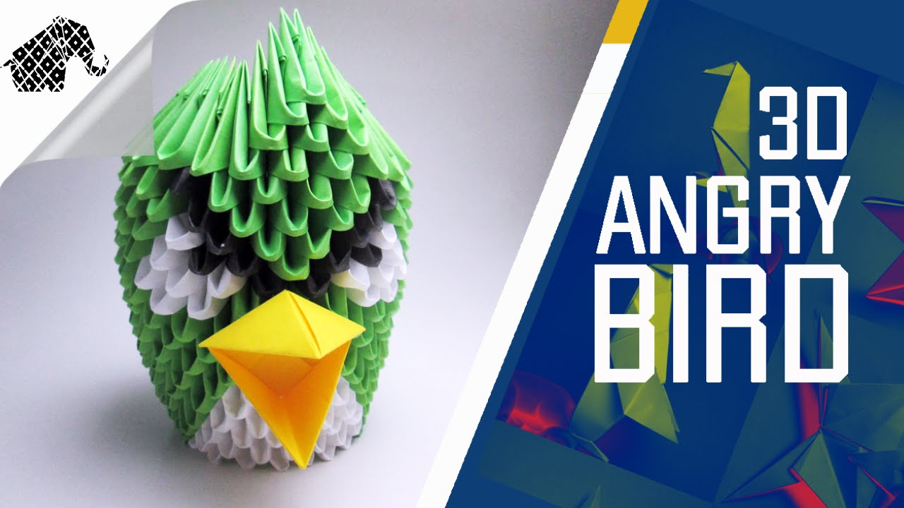 3D Origami Angry Bird Tutorial | DIY | Papercraft Ideas | 720x1280