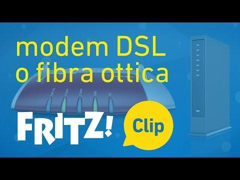 In internet tramite modem DSL o per fibra ottica già esistente