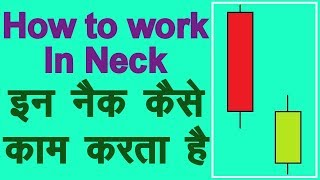 How to use In Neck Bearish Continuation Candlestick Pattern in Hindi. Technical Analysis in Hindi
