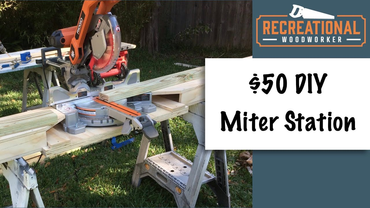 30 Diy Portable Miter Saw Station From One Sheet Of