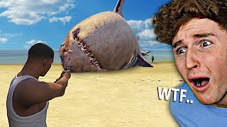 i found the BIGGEST Megalodon In GTA 5.. (GTA 5 Mods)