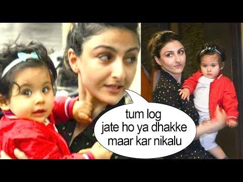 Soha Ali Khan FIGHTS With Media To PROTECT Her Daughter Inaya Khemu