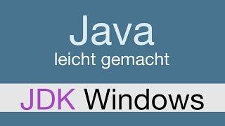 Java Programmieren lernen | JDK Windows installieren - 001